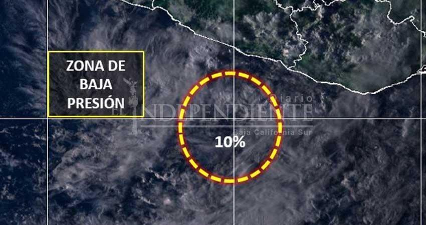 Nueva zona de baja presión se forma al sur de las costas de Guerrero