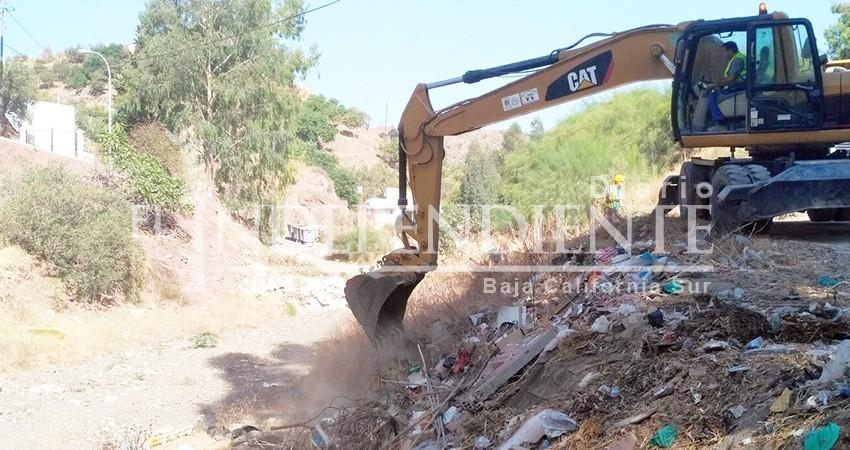 Gobierno Federal activa plan emergente para limpiar arroyos de Los Cabos