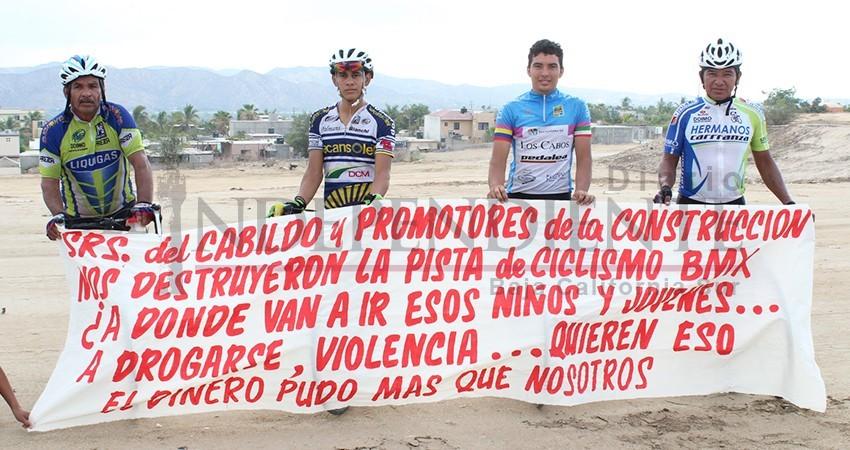 """Fundación """"Pedalea Los Cabos"""" pide a la alcaldesa recuperar espacio deportivo"""