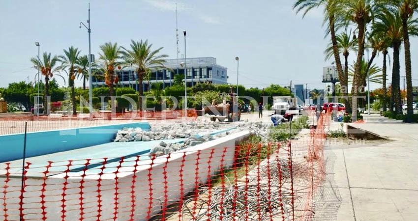 7 mdp costó la Fuente Danzante de palacio de Gobierno que hoy es demolida