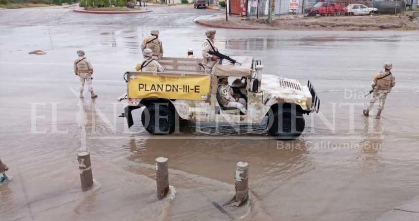 Activa Sedena Plan DN-III-E por lluvias en BCS