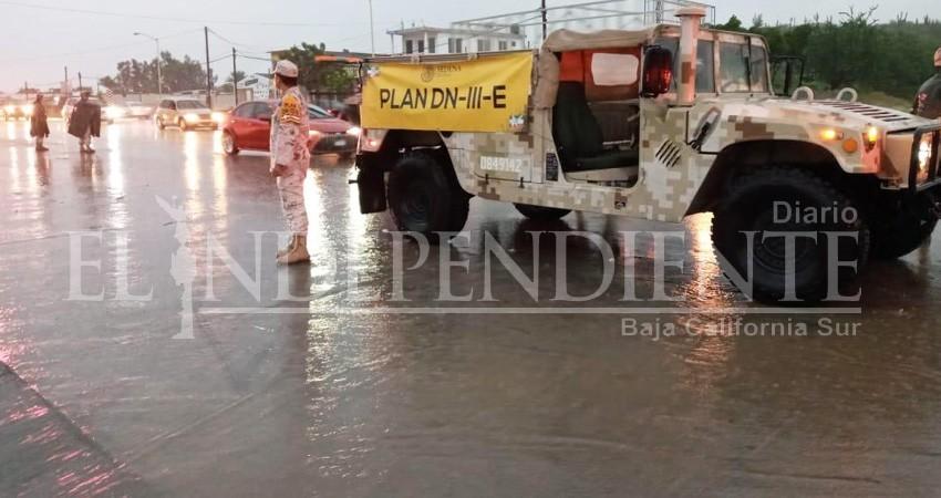 Lluvias provocan crecida de arroyos en La Paz