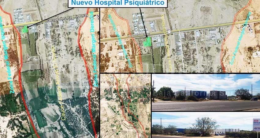 A pesar de las advertencias de Conagua, el Gobierno de BCS construyó hospital en arroyo