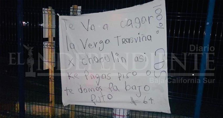 Encuentran nueva narcomanta en La Paz