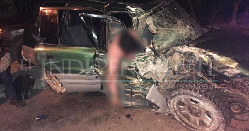 Fatal accidente en La Paz deja 4 lesionados y una persona sin vida