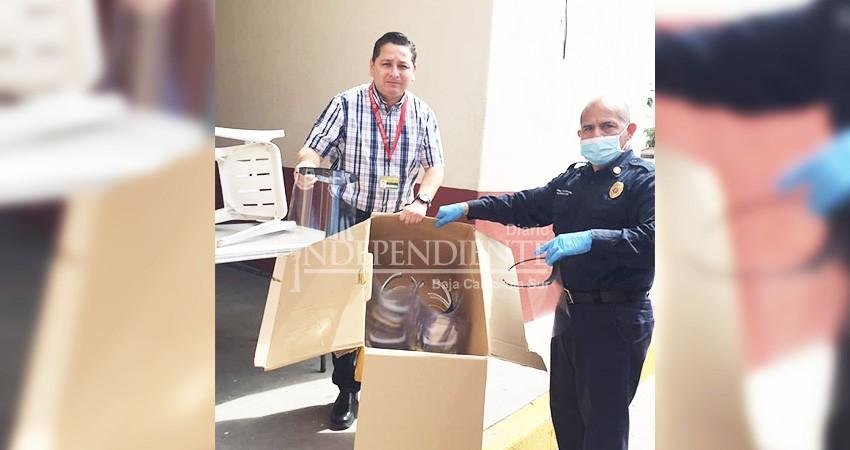 COVID 19: Bomberos CSL construye caretas para donarlas a hospitales de BCS