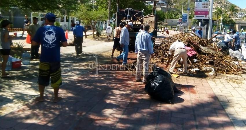 190 toneladas de basura se retiran de la bahía de CSL durante lluvias