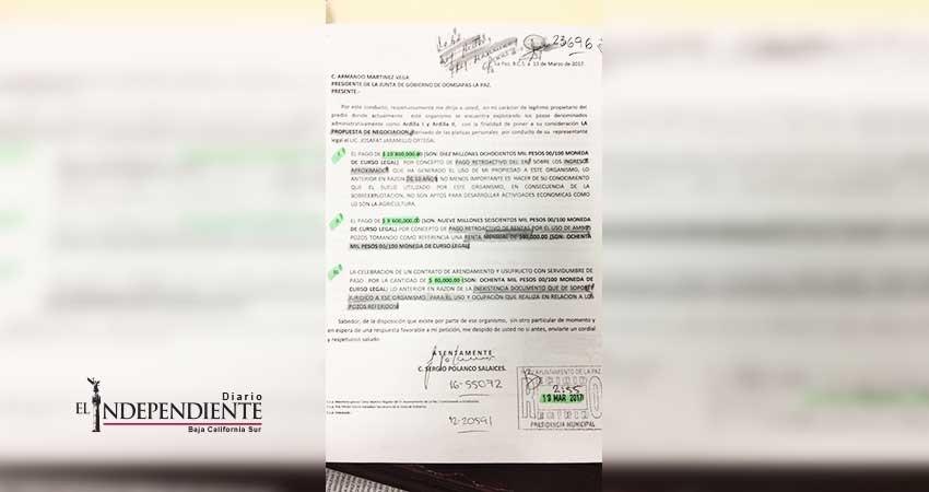 Cerró excandidato de Morena pozo de agua en La Paz para exigir 21 MDP