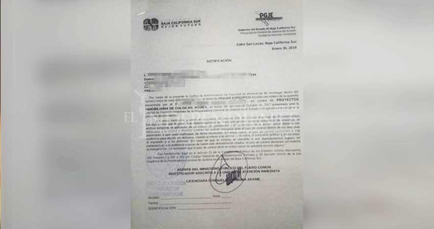 Piden a vecinos de Chulavista  que se abstengan de investigar a Homex por fraude específico