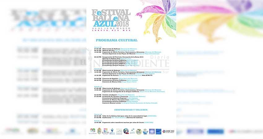Hoy  inicia el 3er Gran Festival de la ballena azul en Loreto