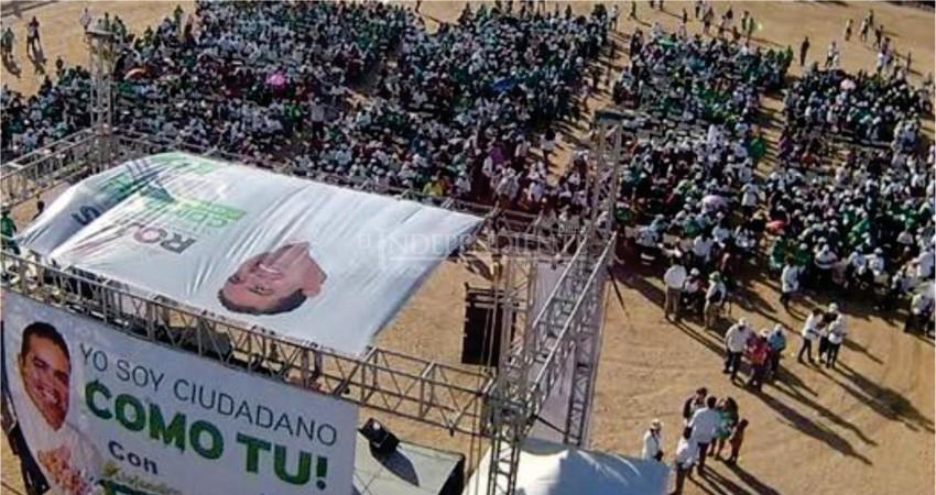 Con acto masivo de campaña Rojas Tirado arrancó campaña en CSL por Los Cabos