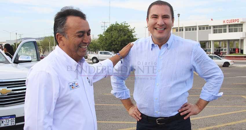 El exgobernador de Puebla, Rafael Moreno Valle y Pancho Pelayo