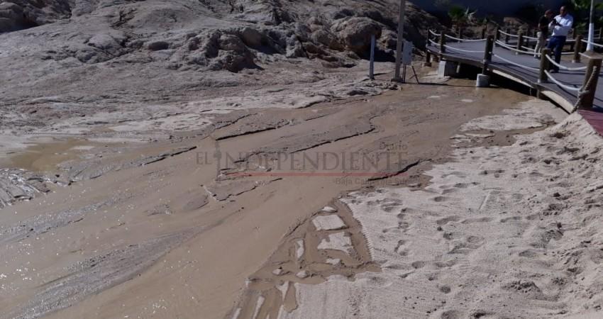Atiende Zofemat reporte de derrame de agua en playa El Chileno de CSL