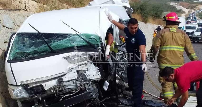 Varias personas heridas en aparatoso accidente en el Corredor Turístico