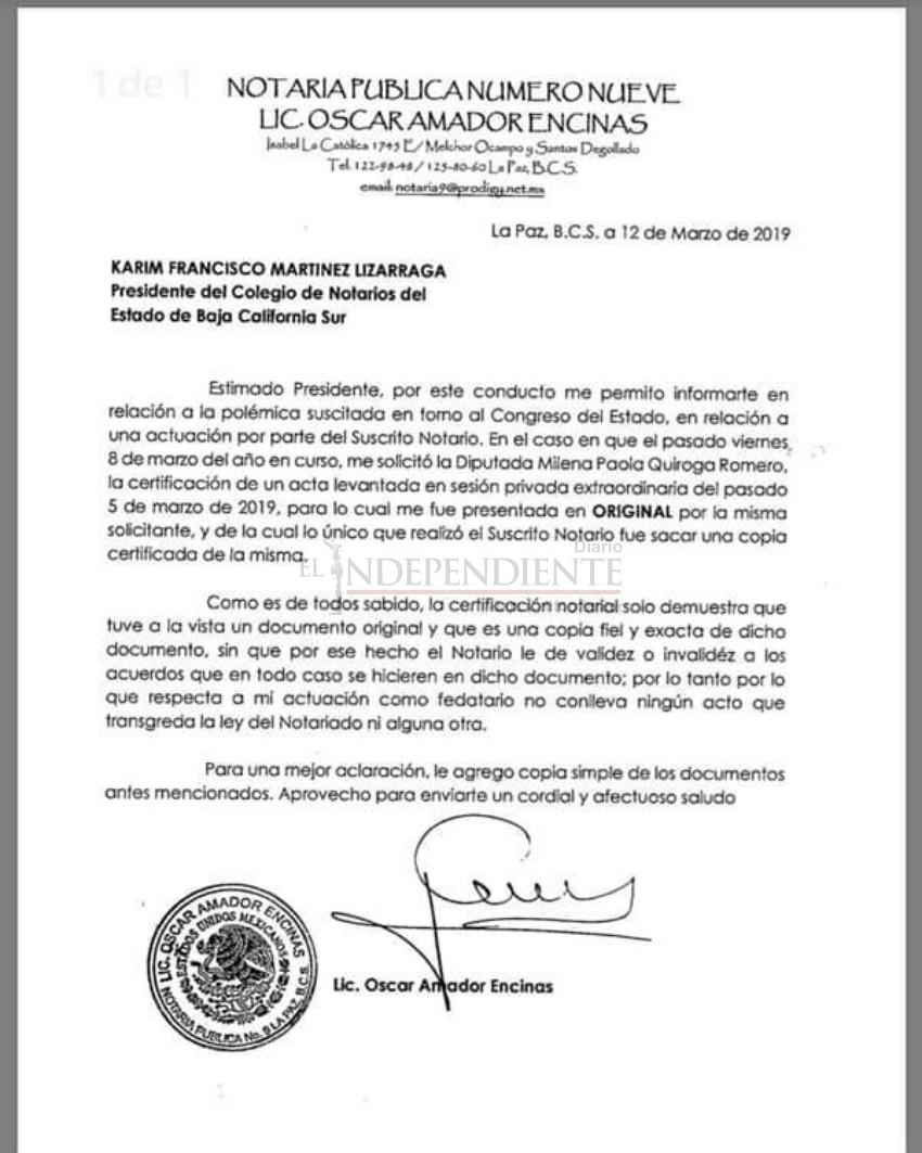 """""""Sólo emití una copia certificada"""", niega notario acusaciones de Ramiro Ruíz"""