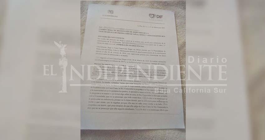 Madre de la menor violada que dio a luz desmiente a la procuradora del menor en BCS