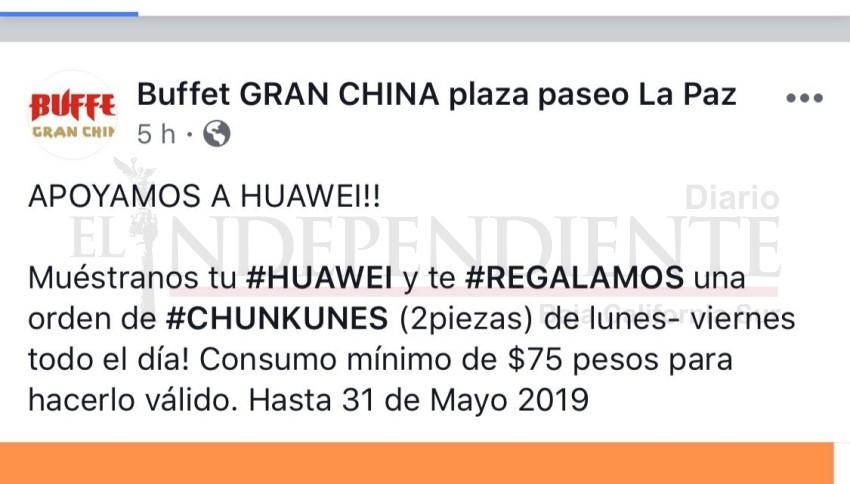 Restaurante chino de La Paz ofrece descuento a usuarios de Huawei
