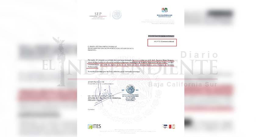 SUPDAITES Los Cabos denuncia nepotismo de parte del director general