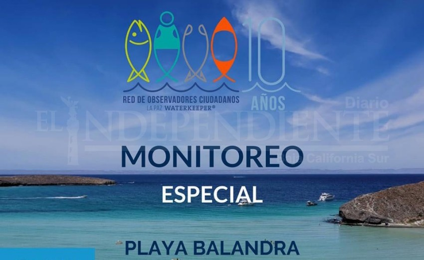Playa Balandra con altos índices de contaminación