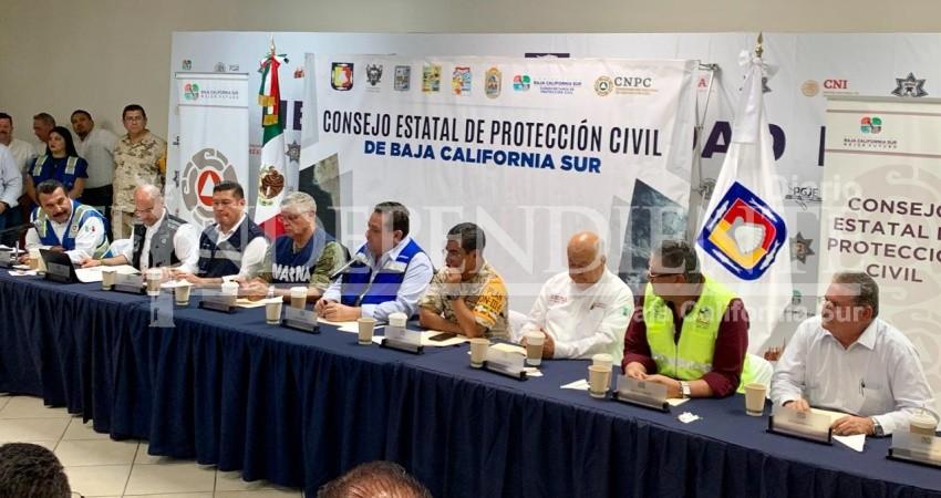 """""""Lorena"""" impactará la noche de este hoy a La Paz: Conagua"""