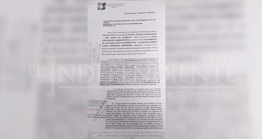 Ciudadanos demandan al Ayuntamiento de Los Cabos; regidora lo celebra