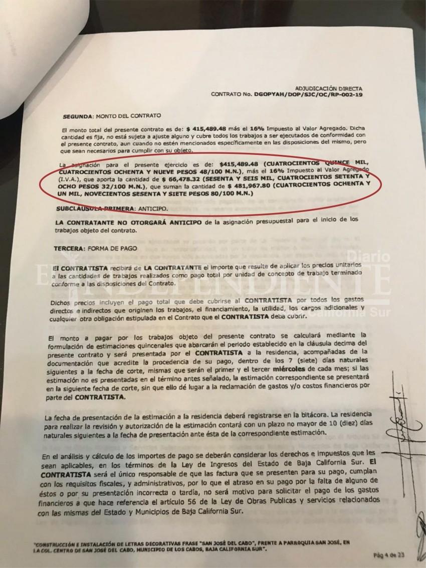 Casi medio millón de pesos, costaron las letras monumentales de SJC