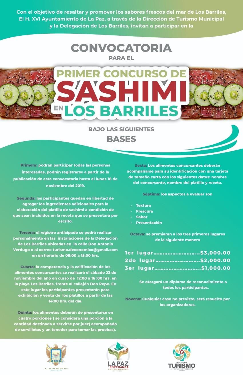 Se llevará a cabo el primer concurso de Sashimi en Los Barriles