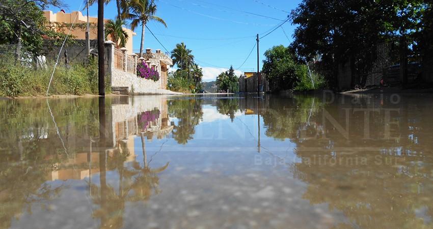 Por lluvias, sufrieron afectaciones 60% de las calles en Los Cabos