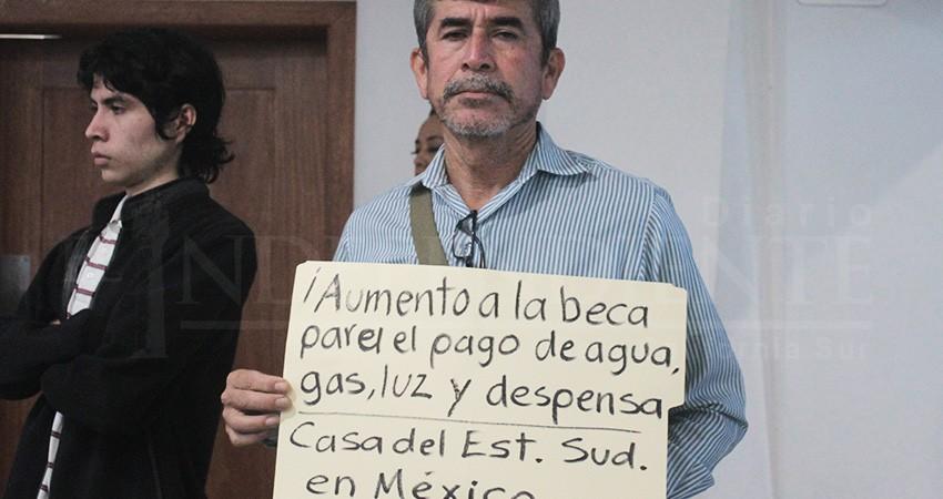 Exigen reasignación de recurso para la Casa del Estudiante Sudcaliforniano en CDMX