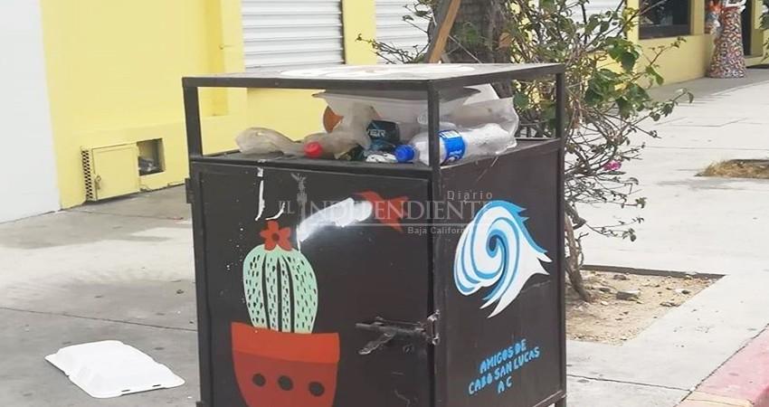 Centro de CSL tiene más basura en las calles que turistas