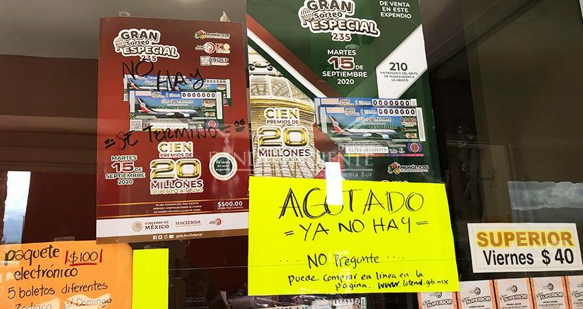 """¡Quedan pocos! pero en La Paz aún hay """"cachitos para el avión""""; en Los Cabos se agotaron"""