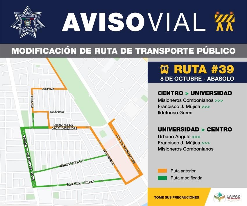 Amplían ruta de transporte en La Paz para mejor cobertura