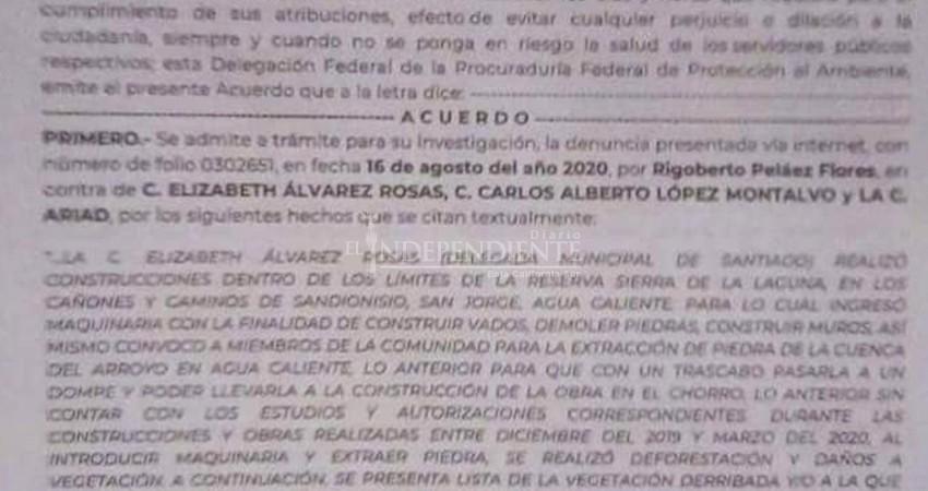 Denuncian ante Profepa a delegada de Santiago y al director de Ecología
