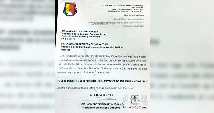 """Se perfila """"propuesta ciudadana"""" para que diputados permanezcan hasta 6 años en el cargo"""