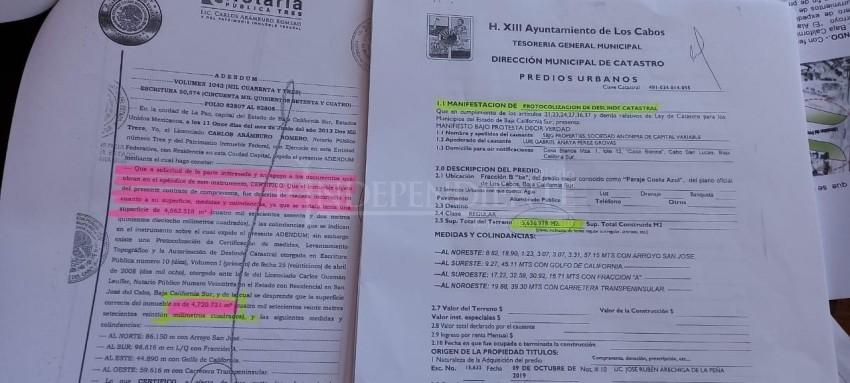 Ayto Los Cabos  modificó documentos para dar más metros al predio donde se construye muro en Costa Azul: Regidora