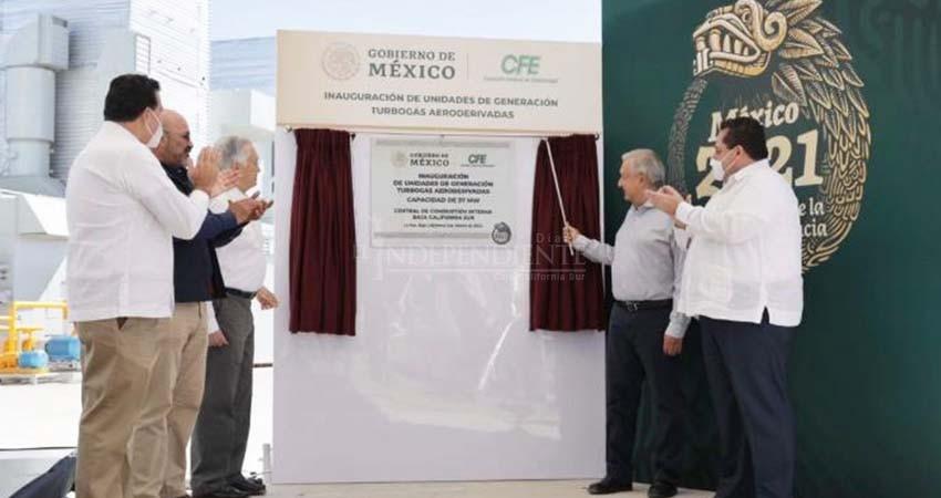 """Confirma AMLO que CFE comprará Gas Natural para operar en BCS: """"Se acabaron los apagones"""""""