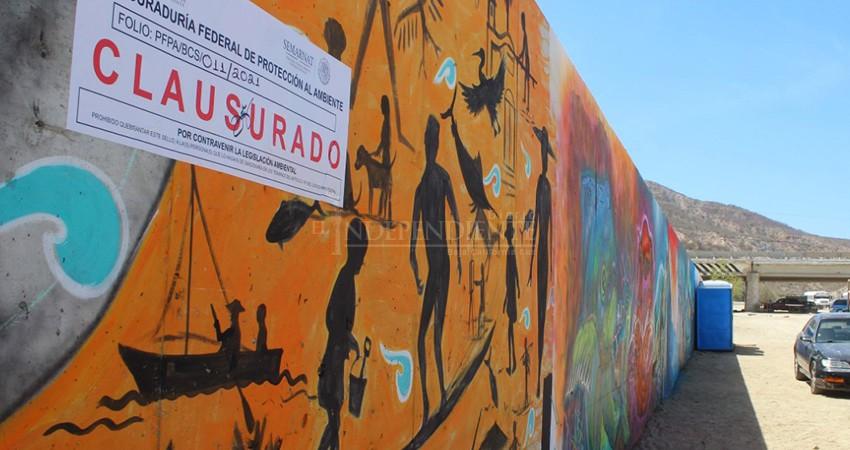 Un sello más para el muro de Costa Azul, ahora de Profepa