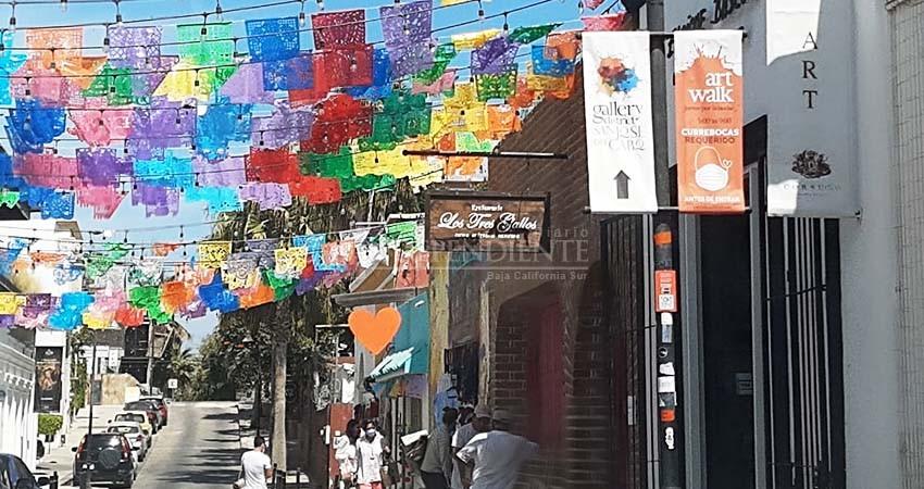 Colocan señalización con medidas anti Covid en el Centro Histórico de SJC