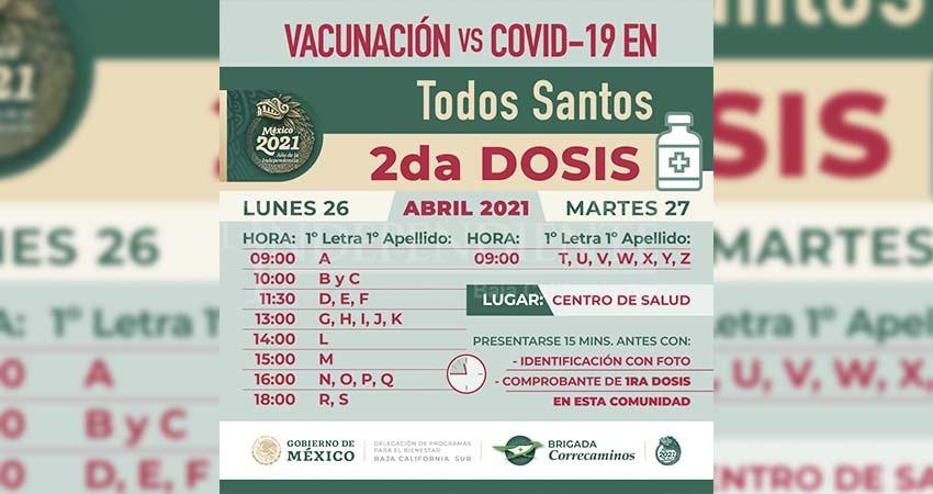 Suman 119,555 dosis de vacuna contra COVID-19 las enviadas a BCS