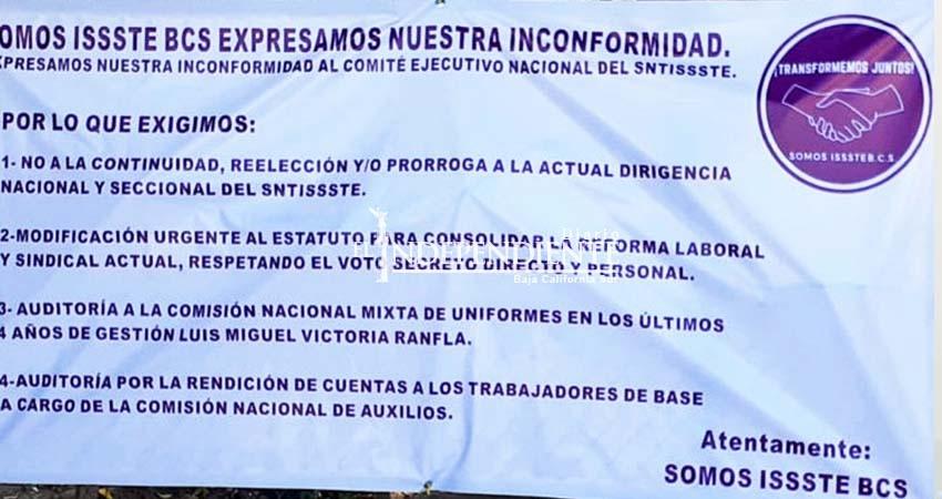 Sindicalizados del ISSSTE revientan contra secretaria general: le dio base a su hijo sin antigüedad
