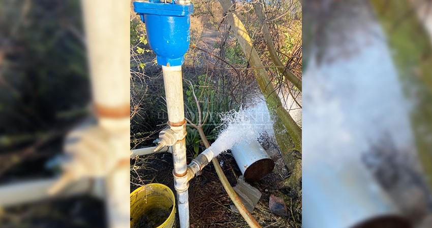 Continúa el desperdicio de agua en colonia El Tezal