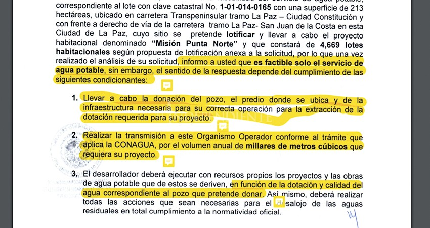 """Punta Norte se contradice: """"regalaría"""" pozo que ya está concesionado al OOMSAPAS"""