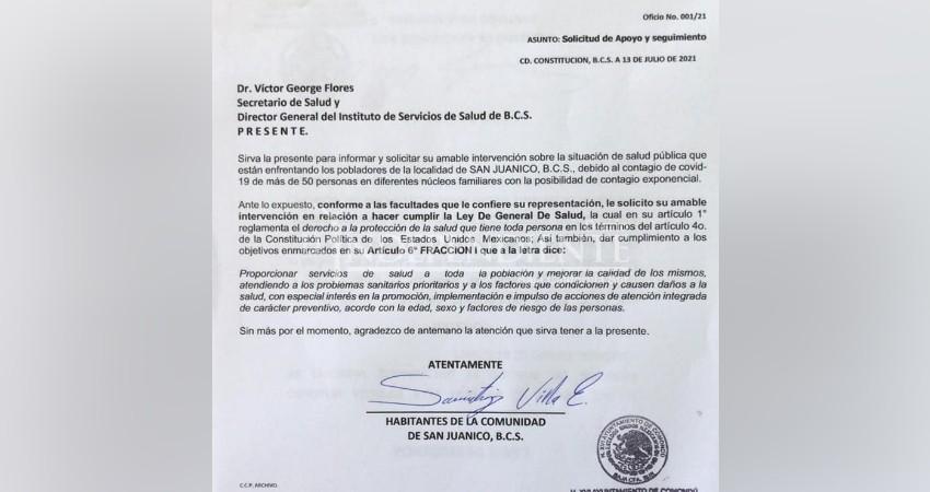 Ciudadanos de San Juanico niegan fiesta COVID, pero piden apoyo a SSA por contagios