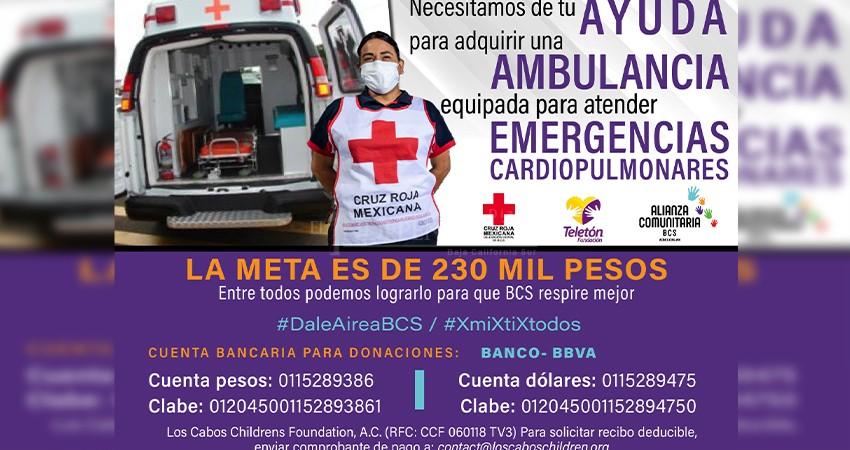 Alianza Comunitaria BCS, Cruz Roja y CRIT lanzan colecta -Dale Aire a BCS-