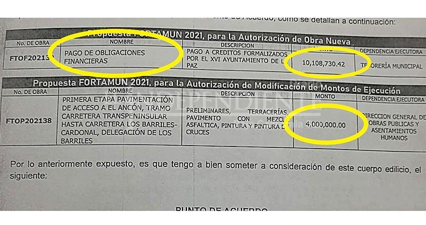 Cabildo La Paz acuerda cancelar obras para pagar deuda con la banca privada