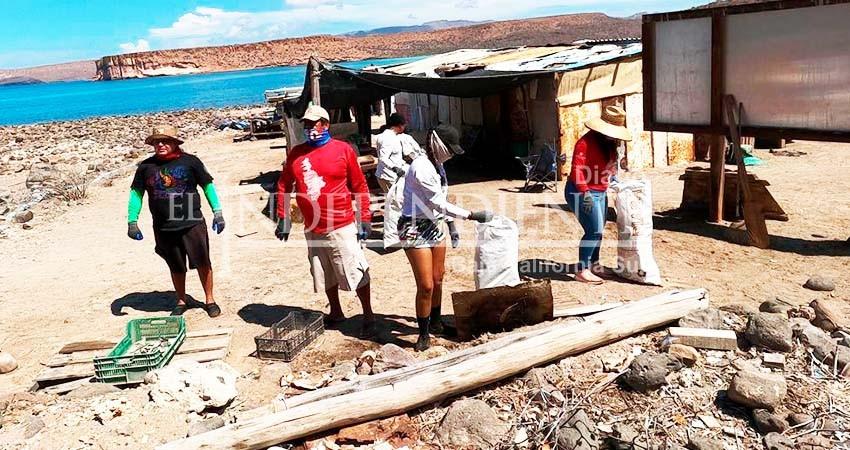 Cerca de 600 kilos de basura se recogieron en Isla Espíritu Santo