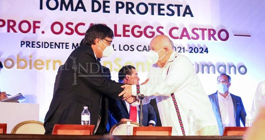 Óscar Leggs toma posesión como alcalde de Los Cabos